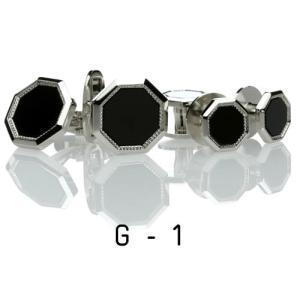 オニキス・カフススタッドセット11.G-1 カフリンクススタッドセット|ttp