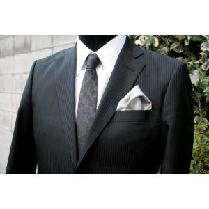 シルク100%ポケットチーフグレー シルクチーフ|ttp