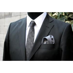 シルク100%ポケットチーフチャコール シルクチーフ|ttp