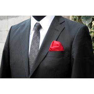 シルク100%ポケットチーフ赤 シルクチーフ|ttp