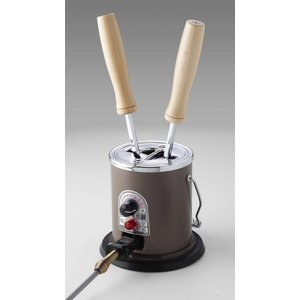 【送料無料】タキイ電器 和裁電気鏝(コテ)2丁立 和裁鏝 茶色 [テーラー・職人向け]|ttp