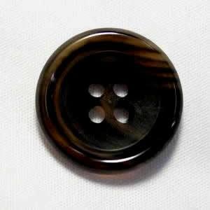 水牛ボタンK-150 COLOR.7B ダークブラウン23mm T93986 老舗テーラー御用達スーツボタン専門店の高級ボタン|ttp