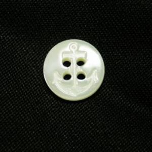 イカリ柄高瀬貝ボタン 11.5mm|ttp