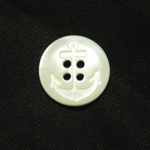 イカリ柄高瀬貝ボタン 15mm|ttp