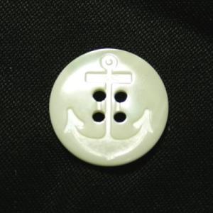 イカリ柄高瀬貝ボタン 18mm|ttp