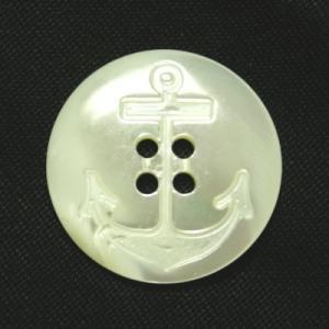 イカリ柄高瀬貝ボタン 23mm|ttp