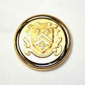 [処分品]メタルボタンI-11ゴールド15mm 紳士服スーツジャケットの袖口・袖ボタンに|ttp