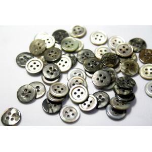 [メール便送料無料]17型黒蝶貝ボタン 11.5mm 50個セット 天然貝シャツボタン スーツボタン専門店のこだわりボタン|ttp