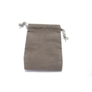 ベルベット調ミニきんちゃく袋グレー縦9cm横6.5cm ジュエリー保存用ミニ巾着袋ベロア風キンチャク袋9cm×7cm|ttp|02