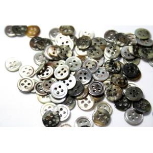 [メール便送料無料]17型黒蝶貝ボタン 9mm 50個セット 天然貝シャツボタン スーツボタン専門店のこだわりボタン ttp