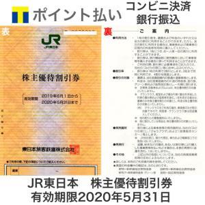 カードOK JR東日本 株主優待券 有効期限2020年5月31日 ※2021年5月31日まで延長とな...