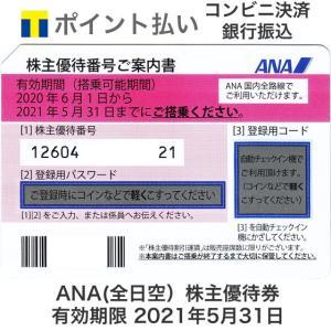 ANA(全日空)株主優待券 有効期限2021年5月31日 ※2021年11月30日まで延長となりまし...