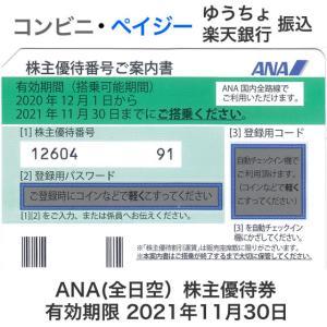 ANA(全日空)株主優待券 有効期限2021年11月30日 ※2022年5月31日まで延長となりまし...