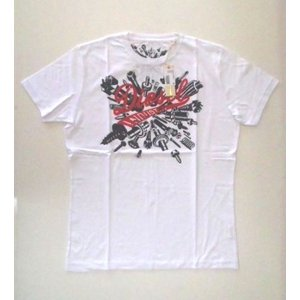 メンズ ディーゼル Tシャツ プリント ホワイト XXL|ttrade