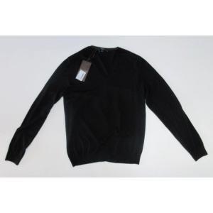 メンズ グッチ Vネック ウール セーター ブラック S|ttrade