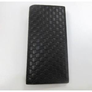 新品 メンズ グッチ 2つ折長財布 グッチシマ マイクロGG|ttrade