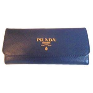 プラダ 6連キーケース サフィアーノ ネイビー|ttrade