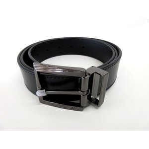 メンズ ヴェルサーチ レザー ベルト ブラック 44 ttrade