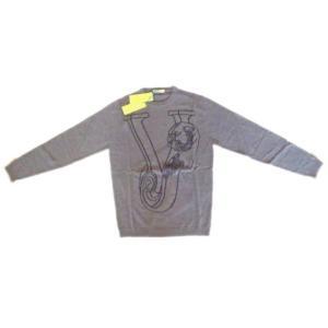 メンズ ヴェルサーチ ウールセーター タイガー グレー XL ttrade