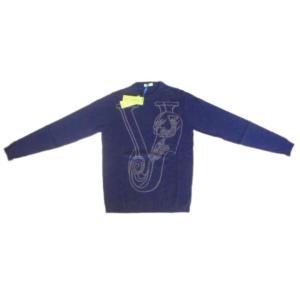 メンズ ヴェルサーチ ウールセーター タイガー ネイビー S ttrade