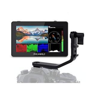 Feelworld F6 PLUS 外部モニター 5.5インチ 3D LUT搭載 タッチスクリーン 4Kカメラフィールドモニター HDMI出|tts