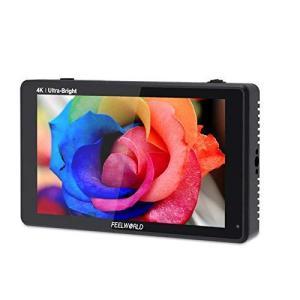 FEELWORLD LUT6 カメラモニター 6インチ 2600nit超高輝度 フィールドモニター 4K HDMI 出力入力 1920x10|tts