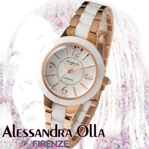アレサンドラオーラ 腕時計 レディース 時計 ホワイトシェル 文字盤 セラッミック  AO-1450-1  国内代理店商品 新品 無料ラッピング可|ttshop-trust