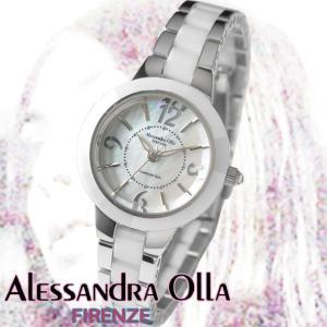 アレサンドラオーラ 腕時計 レディース 時計 ホワイトシェル 文字盤 セラッミック  AO-1450-3  国内代理店商品 新品 無料ラッピング可|ttshop-trust