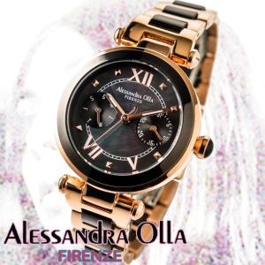 アレサンドラオーラ 腕時計 レディース 時計 マルチファンクション ブラック 文字盤  AO-75-1  国内代理店商品 新品 無料ラッピング可|ttshop-trust