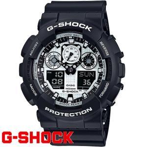 G-SHOCK カシオ Gショック 腕時計 GA-100BW-1A CASIO デジアナ ワールドタイム メンズウォッチ 海外モデル 新品|ttshop-trust