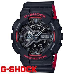 G-SHOCK 腕時計 メンズ 時計 デジアナ デジタル アナログ ワールドタイム ブラック&レッドシリーズ   海外モデル  GA-110HR-1A  新品  無料ラッピング可|ttshop-trust