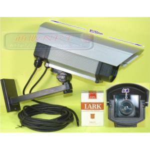 防犯カメラ・監視カメラ 屋外防雨仕様 点滅式高級ダミーカメラ アルミハウジング 【SA-800DW(47505)】|tu-han-net
