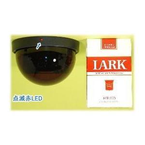 【SA-47901】 防犯カメラ・監視カメラ 天井用ドームダミーカメラ LED点滅式|tu-han-net