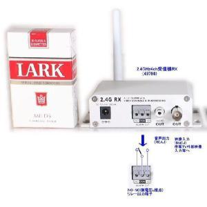 【SA-49798】 防犯カメラ・監視カメラ用 2.4GHz受信機のみ (映像/音声/アラーム接点) ACアダプター付