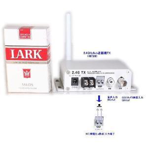 【SA-49799】 防犯カメラ・監視カメラ用 2.4GHz送信機のみ (映像/音声/アラーム接点) ACアダプター付