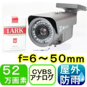 【SA-49852】41万画素カラー 屋外用防犯カメラ  f=6.0mm〜50.0mm(バリフォーカル) 水平画角約43度 最低照度0.00001LUX 赤外線LED内蔵|tu-han-net