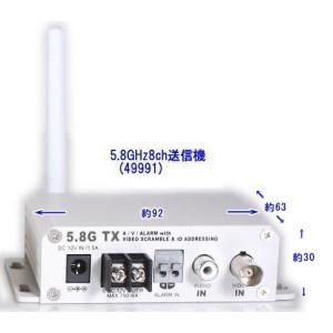 【SA-49991】 防犯カメラ・監視カメラ用5.8GHz送信機のみ (映像/音声/アラーム接点) ACアダプター付