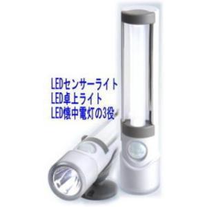 【SA-50008】 LEDセンサーライトスリム 屋内用 人感センサー・LED懐中電灯 電池無しタイプ tu-han-net
