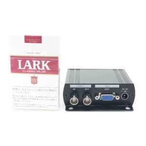 【SA-50633】 防犯カメラ・監視カメラ・録画機や監視モニター用 ビデオ信号(コンポジット信号)→VGA変換器 アップスキャンコンバーター AD001H|tu-han-net