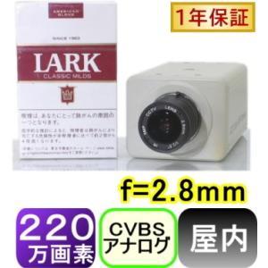 【SA-51121】 220万画素1200TVL 屋内用高画質カラーカメラ f=2.8mmCSマウントレンズ 画角:水平約85度|tu-han-net