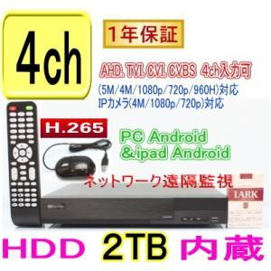 【SA-51171】AHD-H&AHD&アナログ 4ch最高解像度720p(1280x720) or 960H(940x480) 100fps(各ch30fps)の高性能機(H.264)(HDD2TBタイプ)