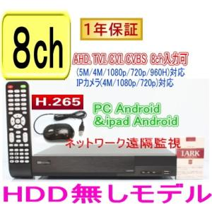【SA-51175】(HDD無しタイプ)AHD&TVI(5M.4M.1080p.720p)CVI映像とアナログ(CVBS)を録画再生可能 H.265 DVR録画機 PC,Android,iPhoneからの遠隔監視対応|tu-han-net