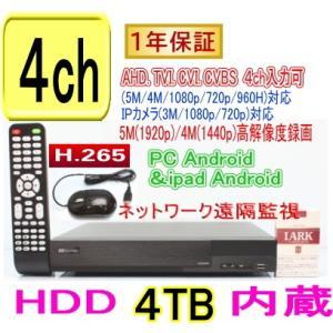 【SA-51244】コンパクトDVR録画機4CH(HDD4TB内蔵)AHD&TVI(5M,4M,1080p,720p),CVI映像とアナログ(CVBS)を同時に録画可能 tu-han-net