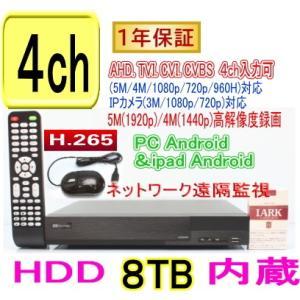【SA-51245】コンパクトDVR録画機4CH(HDD48B内蔵)AHD&TVI(5M,4M,1080p,720p),CVI映像とアナログ(CVBS)を同時に録画可能 tu-han-net