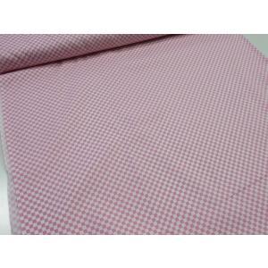 市松模様 ピンク スケアー生地 |生地|布地|シャツ|浴衣|ジンベイ|甚平|