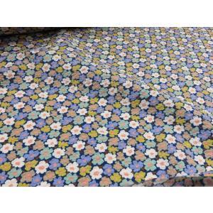 リップル ミニマリメッコ風 ネイビー  安い おしゃれ 布地 かわいい 生地  ゆかた 浴衣 じんべい 甚平|tubameya