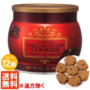 【送料無料・1ケース(12個)】 コペンハーゲン チョコレートチップクッキー 250g×12個|tucano