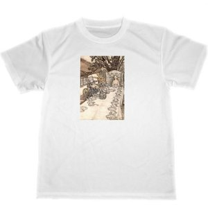 アーサー・ラッカム 不思議の国のアリス ドライ Tシャツ イラスト 名画 グッズ