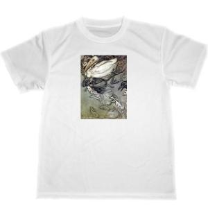 アーサー・ラッカム 不思議の国のアリス ドライ Tシャツ イラスト 名画 アニマル ペリカン グッズ