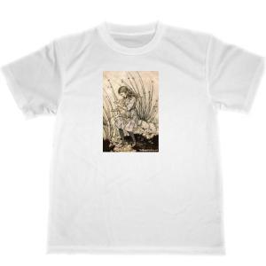 アーサー・ラッカム 不思議の国のアリス ドライ Tシャツ ミニブタ 豚 アニマル グッズ